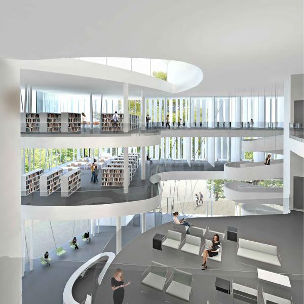 Bibliotheque design nouvelle generation accueil design for Design interieur universite