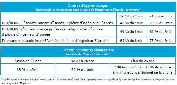 Accueillir un alternant universit de strasbourg - Contrat de professionnalisation salaire grille ...