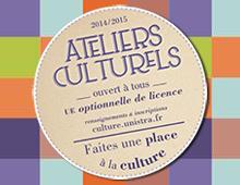 Les inscriptions aux ateliers culturels 2014/2015 sont ouvertes